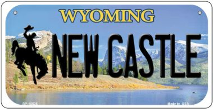 New Castle Wyoming Novelty Metal Bicycle Plate BP-10525