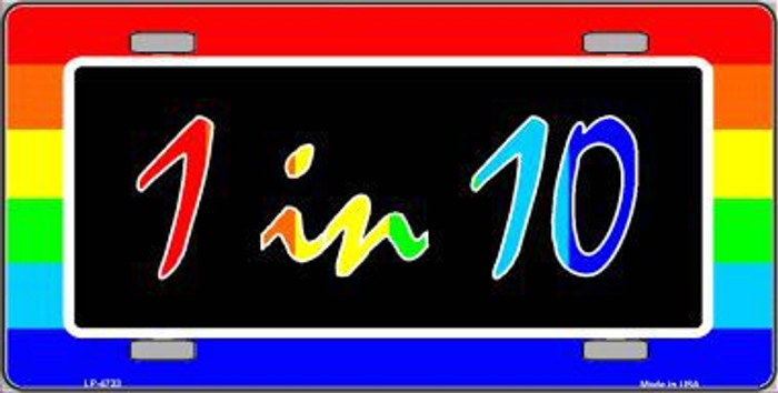 1 In 10 Metal Novelty License Plate LP-4733
