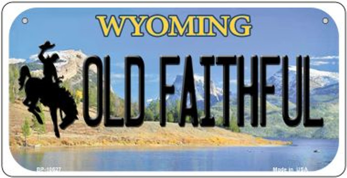 Old Faithful Wyoming Novelty Metal Bicycle Plate BP-10527