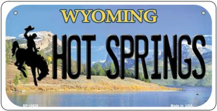 Hot Springs Wyoming Novelty Metal Bicycle Plate BP-10528