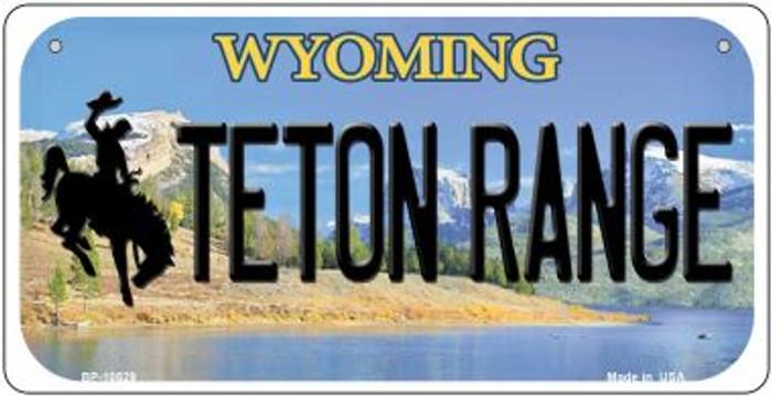 Teton Range Wyoming Novelty Metal Bicycle Plate BP-10529