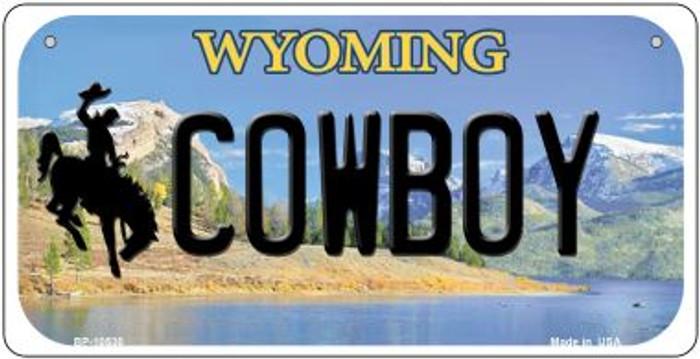 Cowboy Wyoming Novelty Metal Bicycle Plate BP-10530