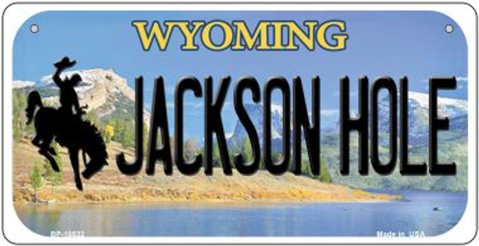 Jackson Hole Wyoming Novelty Metal Bicycle Plate BP-10532
