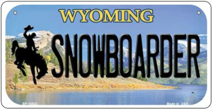 Snowboarder Wyoming Novelty Metal Bicycle Plate BP-10533