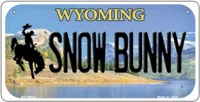 Snow Bunny Wyoming Novelty Metal Bicycle Plate BP-10534