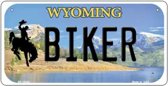 Biker Wyoming Novelty Metal Bicycle Plate BP-10535