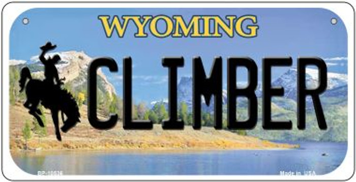 Climber Wyoming Novelty Metal Bicycle Plate BP-10536