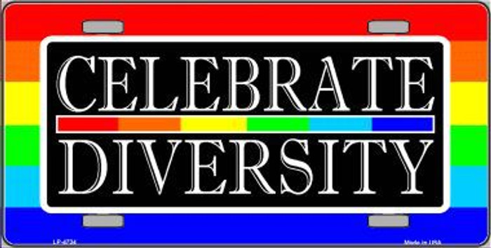 Celebrate Diversity Metal Novelty License Plate LP-4734