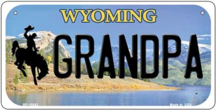Grandpa Wyoming Novelty Metal Bicycle Plate BP-10542