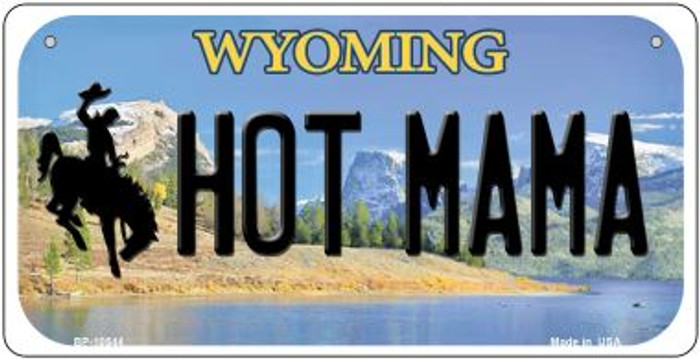Hot Mama Wyoming Novelty Metal Bicycle Plate BP-10544