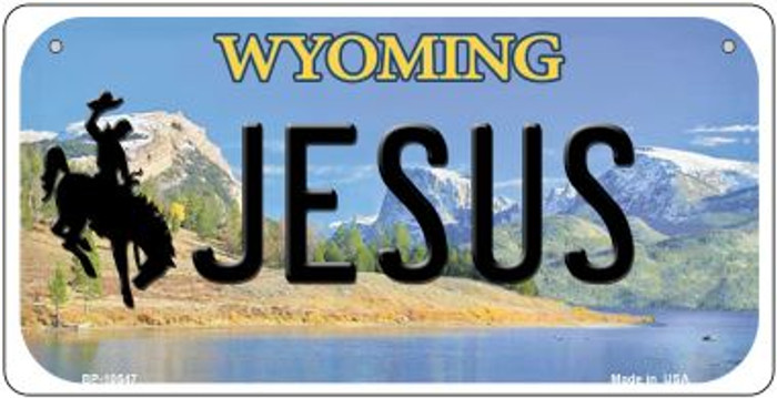 Jesus Wyoming Novelty Metal Bicycle Plate BP-10547