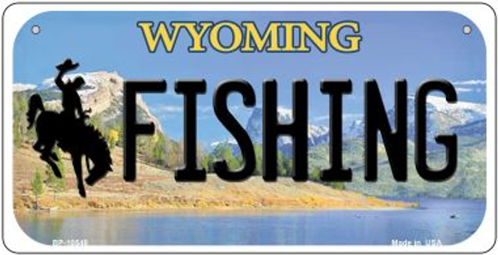 Fishing Wyoming Novelty Metal Bicycle Plate BP-10548