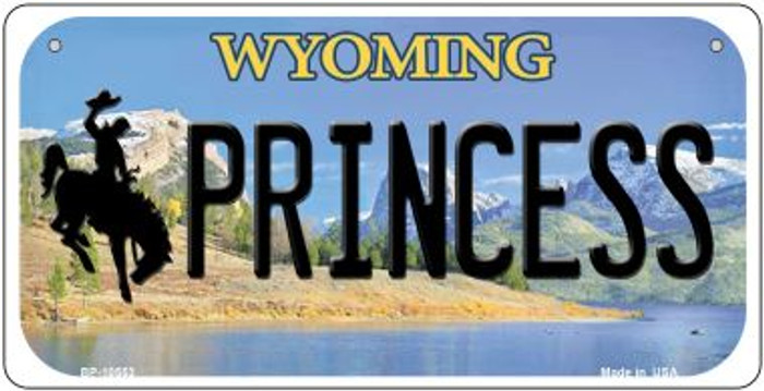 Princess Wyoming Novelty Metal Bicycle Plate BP-10553
