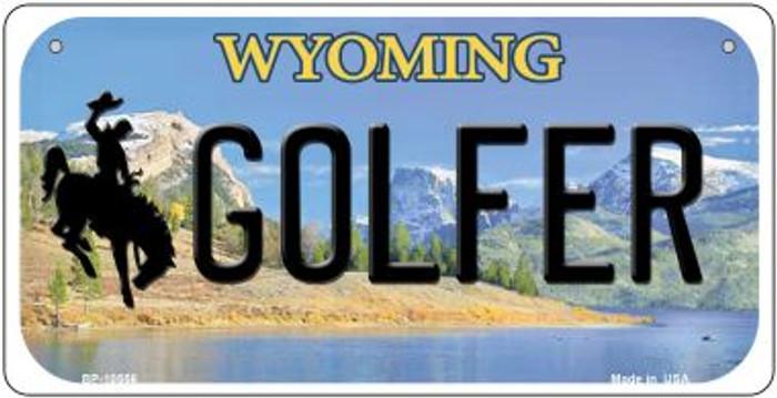 Golfer Wyoming Novelty Metal Bicycle Plate BP-10556