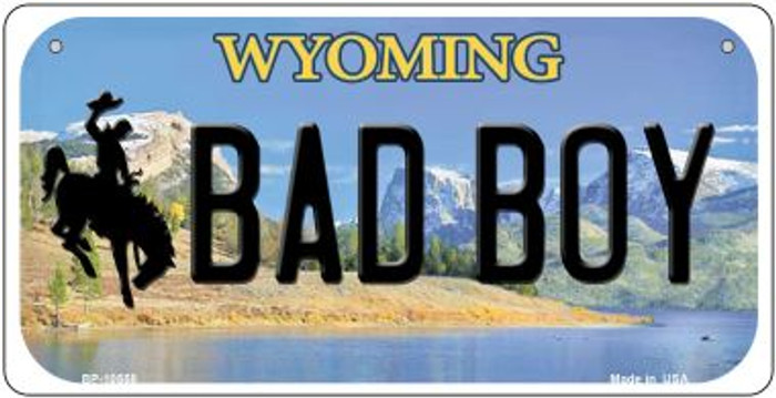 Bad Boy Wyoming Novelty Metal Bicycle Plate BP-10558