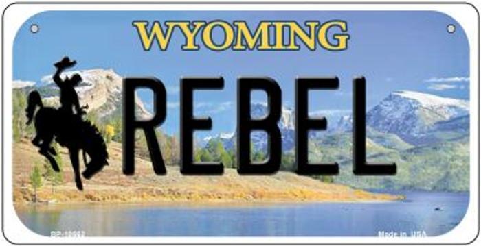 Rebel Wyoming Novelty Metal Bicycle Plate BP-10562