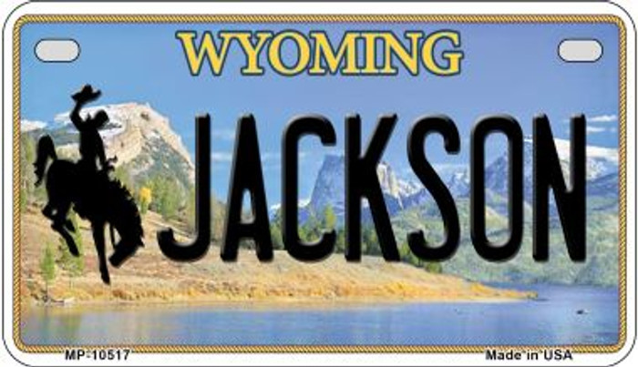 Jackson Wyoming Novelty Metal Motorcycle Plate MP-10517