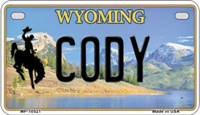 Cody Wyoming Novelty Metal Motorcycle Plate MP-10521