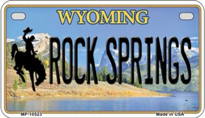 Rock Spring Wyoming Novelty Metal Motorcycle Plate MP-10523
