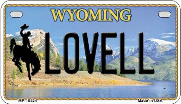 Lovell Wyoming Novelty Metal Motorcycle Plate MP-10524