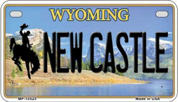 New Castle Wyoming Novelty Metal Motorcycle Plate MP-10525