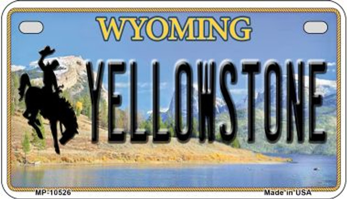 Yellowstone Wyoming Novelty Metal Motorcycle Plate MP-10526