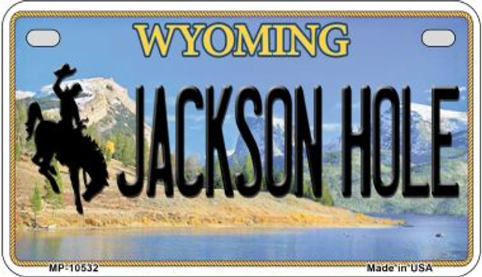 Jackson Hole Wyoming Novelty Metal Motorcycle Plate MP-10532