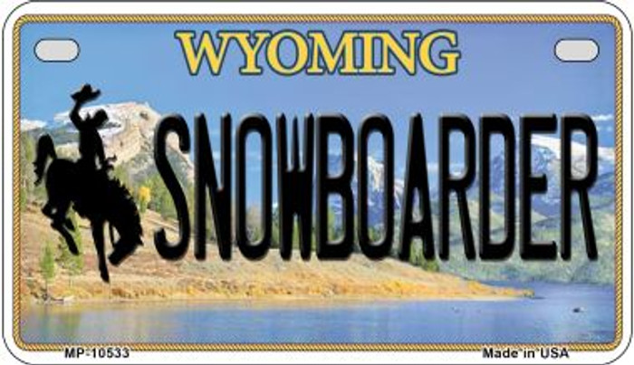 Snowboarder Wyoming Novelty Metal Motorcycle Plate MP-10533