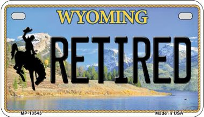 Retired Wyoming Novelty Metal Motorcycle Plate MP-10543