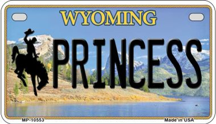 Princess Wyoming Novelty Metal Motorcycle Plate MP-10553