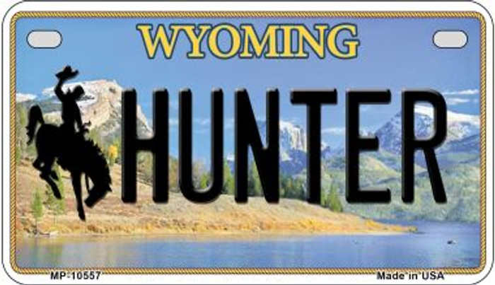 Hunter Wyoming Novelty Metal Motorcycle Plate MP-10557
