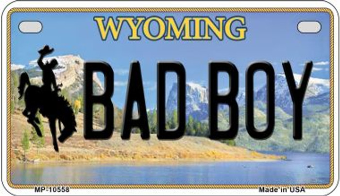 Bad Boy Wyoming Novelty Metal Motorcycle Plate MP-10558