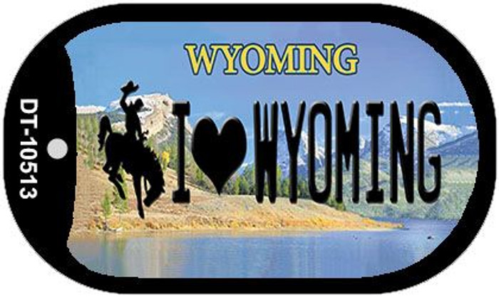 I Love Wyoming Novelty Metal Dog Tag Necklace DT-10513