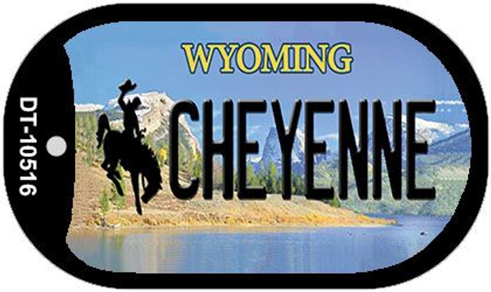 Cheyenne Wyoming Novelty Metal Dog Tag Necklace DT-10516