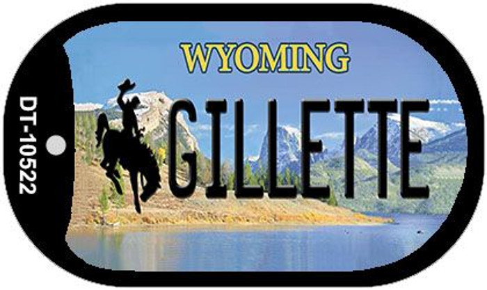 Gilletle Wyoming Novelty Metal Dog Tag Necklace DT-10522