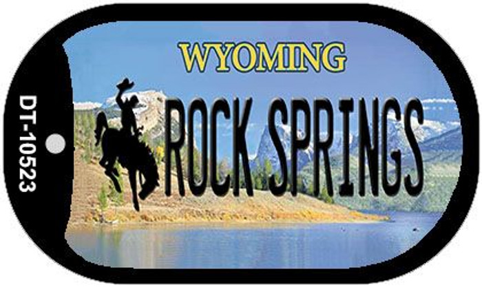 Rock Spring Wyoming Novelty Metal Dog Tag Necklace DT-10523