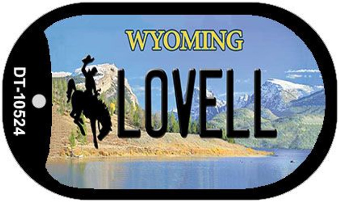 Lovell Wyoming Novelty Metal Dog Tag Necklace DT-10524