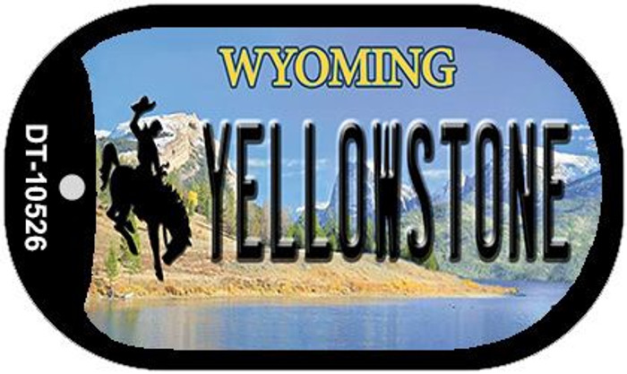 Yellowstone Wyoming Novelty Metal Dog Tag Necklace DT-10526