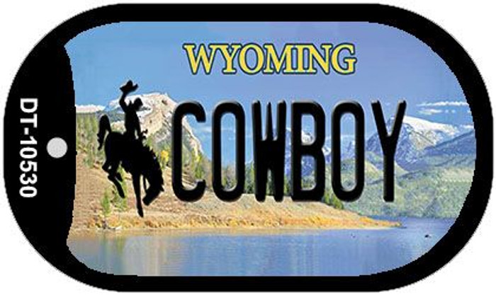 Cowboy Wyoming Novelty Metal Dog Tag Necklace DT-10530