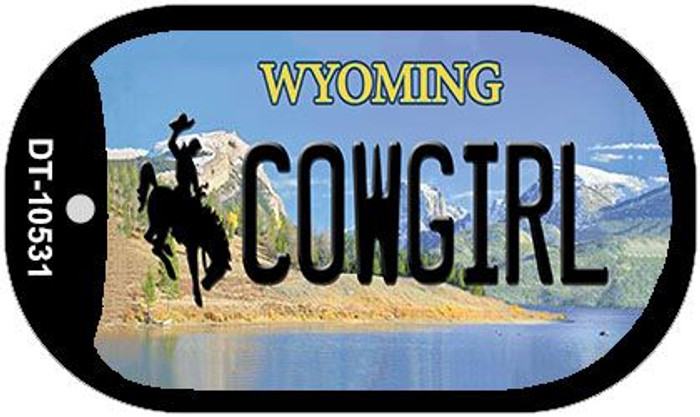 Cowgirl Wyoming Novelty Metal Dog Tag Necklace DT-10531