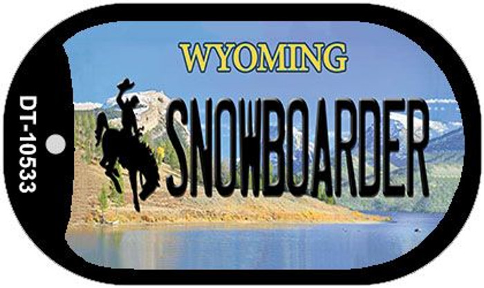 Snowboarder Wyoming Novelty Metal Dog Tag Necklace DT-10533