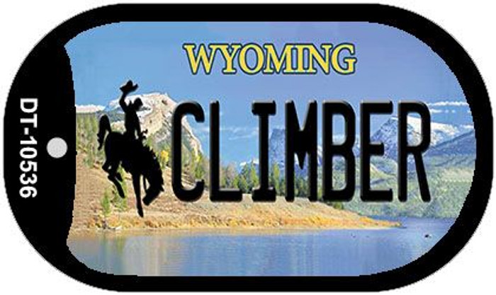 Climber Wyoming Novelty Metal Dog Tag Necklace DT-10536