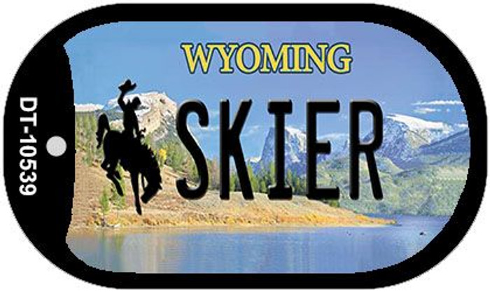 Skier Wyoming Novelty Metal Dog Tag Necklace DT-10539