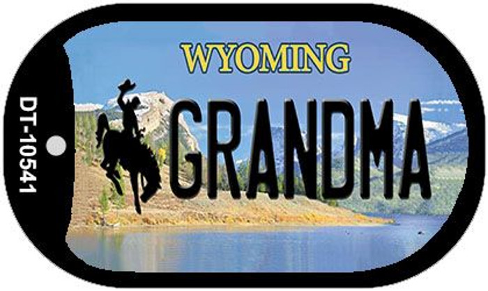 Grandma Wyoming Novelty Metal Dog Tag Necklace DT-10541