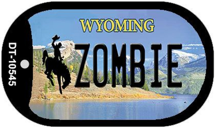 Zombie Wyoming Novelty Metal Dog Tag Necklace DT-10545