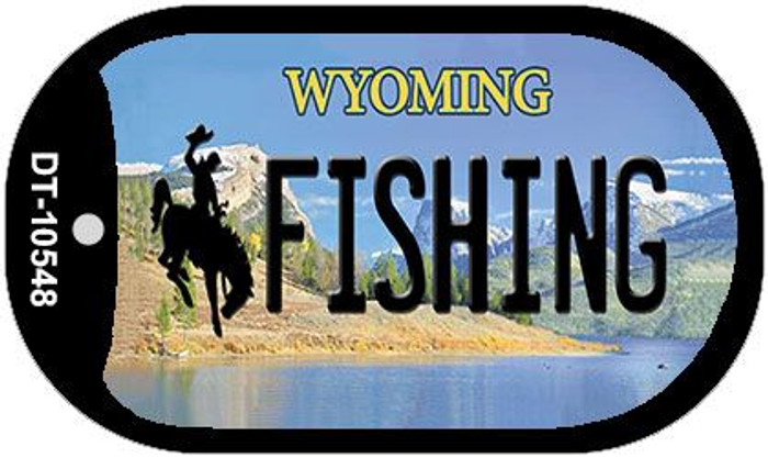 Fishing Wyoming Novelty Metal Dog Tag Necklace DT-10548