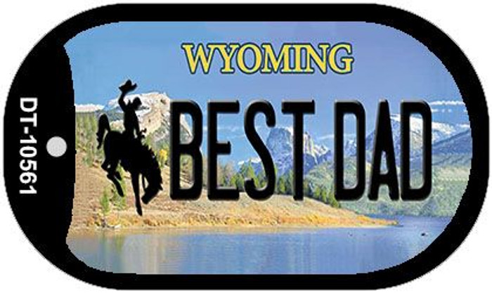 Best Dad Wyoming Novelty Metal Dog Tag Necklace DT-10561