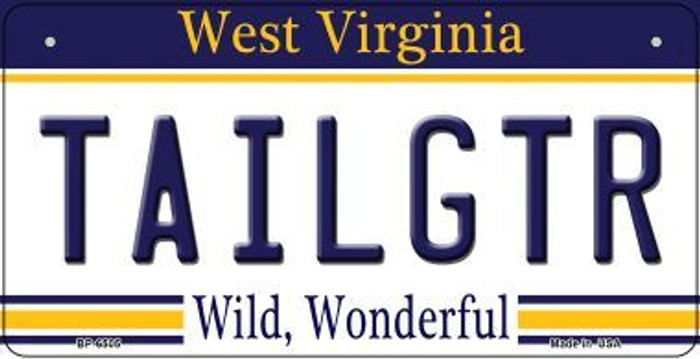 Tailgtr West Virginia Novelty Metal Bicycle Plate BP-6505