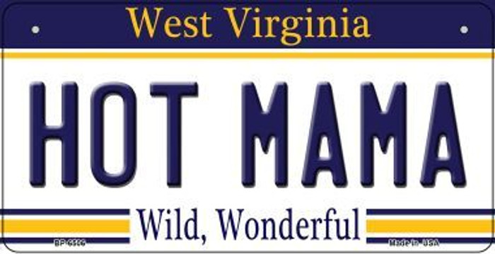 Hot Mama West Virginia Novelty Metal Bicycle Plate BP-6506