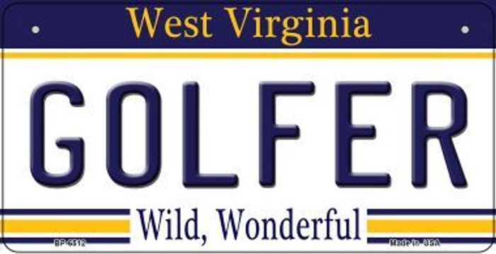 Golfer West Virginia Novelty Metal Bicycle Plate BP-6512